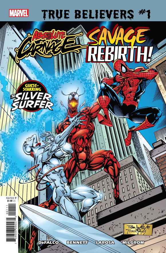 TRUE BELIEVERS ABSOLUTE CARNAGE SAVAGE REBIRTH #1 - MARVEL COMICS - Black Cape Comics