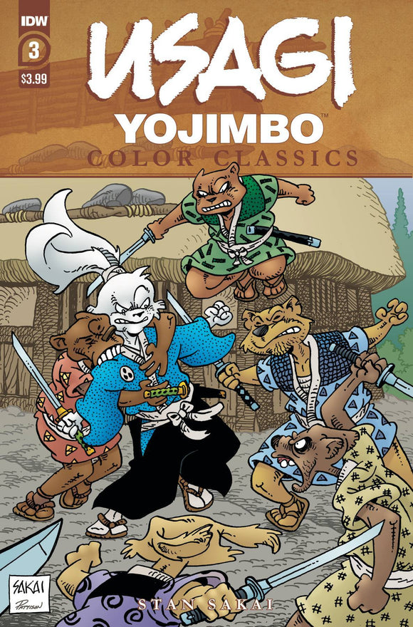 USAGI YOJIMBO COLOR CLASSICS #3 CVR A SAKAI - IDW PUBLISHING - Black Cape Comics
