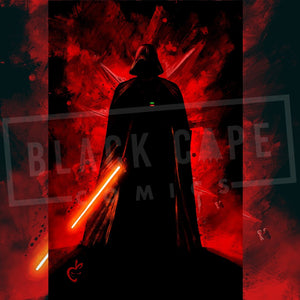 Vader Splat Print - Black Cape Comics - Black Cape Comics