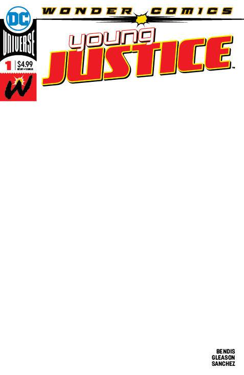 YOUNG JUSTICE #1 BLANK VAR ED - DC COMICS - Black Cape Comics
