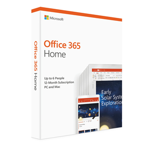 Microsoft Office 365 Home 2019 - 6 Users - 1 Household - 1 Year
