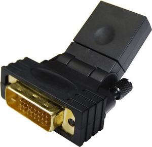 Dynamix HDMI Female To DVI-D - 24+1 - Male Swivel Adapter