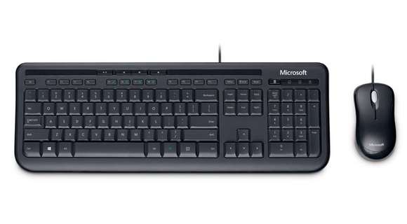 Microsoft Wired Desktop 600 - Retail - USB Cable Keyboard - USB Cable Mouse - Optical - 800 dpi - 3 Button