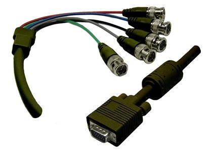Dynamix 2M, VGA To BNC Cable With Ferrite Core