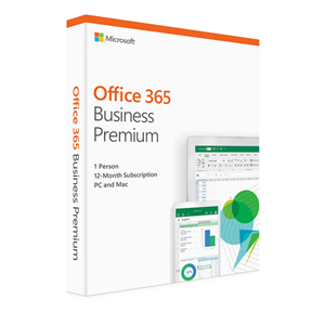 Microsoft Office 365 Business Premium 2019 1 User - 5 PC's - 1 Year