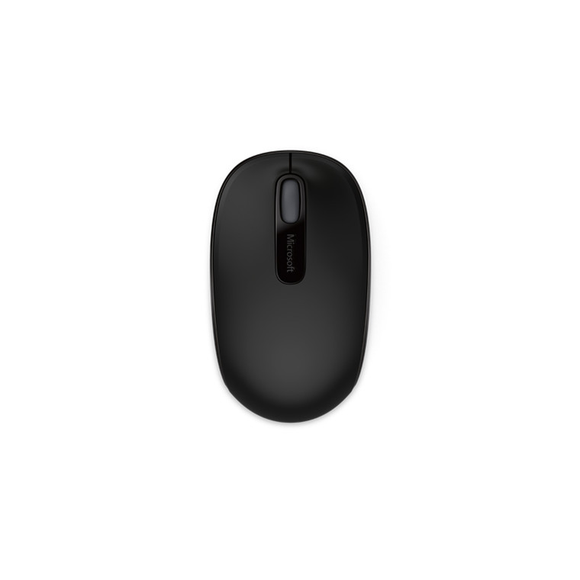 Microsoft 1850 Mouse - Wireless - Black - USB - Scroll Wheel - Symmetrical