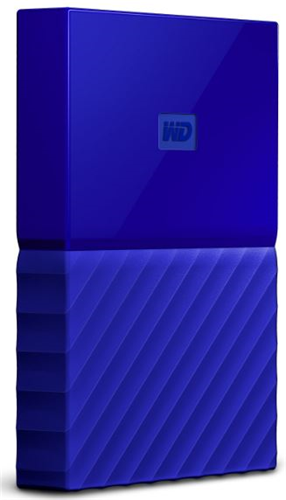 Western Digital My Passport USB 3.0 External Hard Drive 2TB - Blue