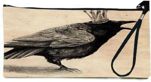 Snoogg CROW WITH CROWN Wallet Clutch Pouch By Anna Shell