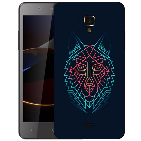 Snoogg Abstract Fox Designer Protective Back Case Cover For Swipe Elite 2 Plus