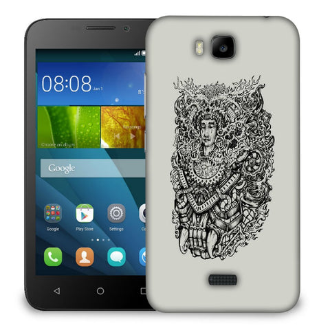 Snoogg Adivasi Face Designer Protective Back Case Cover For Huawei Honor Bee