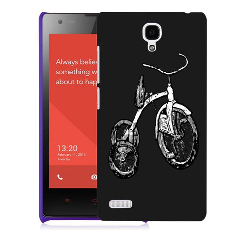 Snoogg Abstract Bicycle Designer Protective Back Case Cover For Xiaomi Redmi Note 2