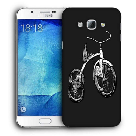 Snoogg Abstract Bicycle Designer Protective Back Case Cover For Samsung Galaxy A8