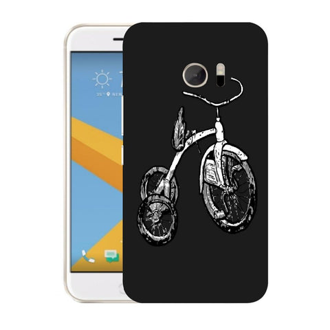 Snoogg Abstract Bicycle Designer Protective Back Case Cover For HTC Desire 10 Lifestyle