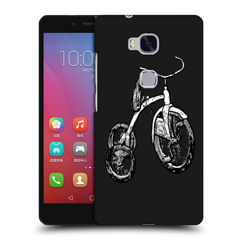 Snoogg Abstract Bicycle Designer Protective Back Case Cover For Huawei Honor 5X