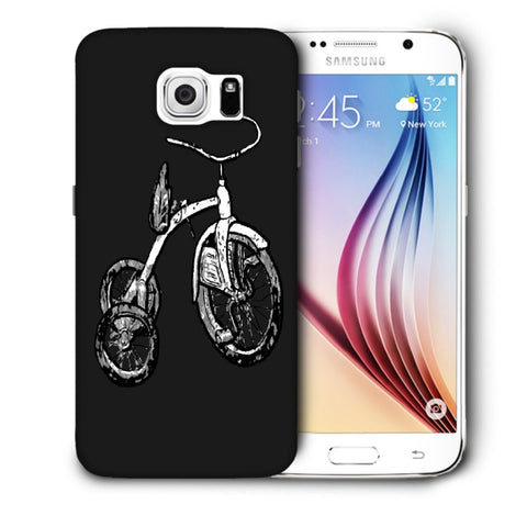 Snoogg Abstract Bicycle Designer Protective Back Case Cover For Samsung Galaxy S6