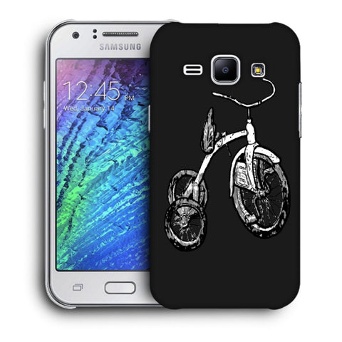 Snoogg Abstract Bicycle Designer Protective Back Case Cover For Samsung Galaxy J1
