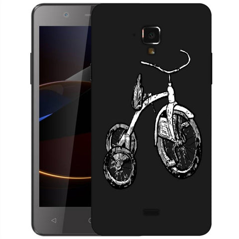 Snoogg Abstract Bicycle Designer Protective Back Case Cover For Swipe Elite 2 Plus
