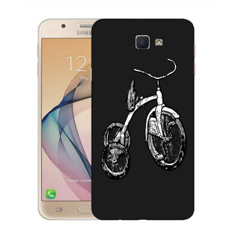 Snoogg Abstract Bicycle Designer Protective Back Case Cover For Samsung Galaxy On Nxt / J7 Prime
