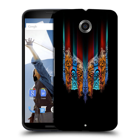 Snoogg Abstract Mask Designer Protective Back Case Cover For Motorola Nexus 6