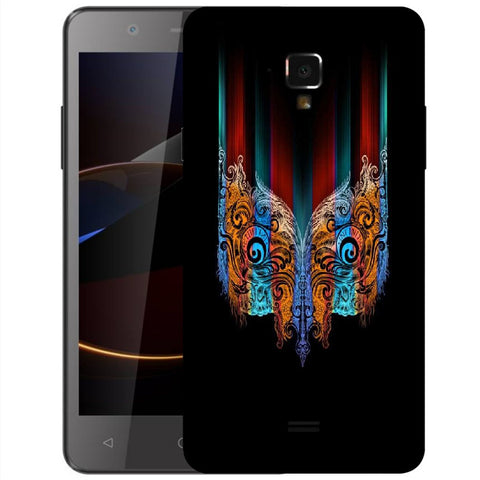 Snoogg Abstract Mask Designer Protective Back Case Cover For Swipe Elite 2 Plus