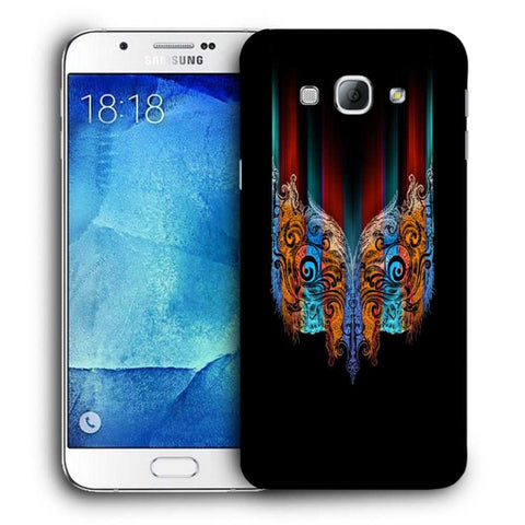 Snoogg Abstract Mask Designer Protective Back Case Cover For Samsung Galaxy A8