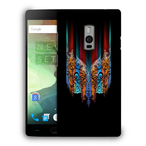 Snoogg Abstract Mask Designer Protective Back Case Cover For OnePlus Two
