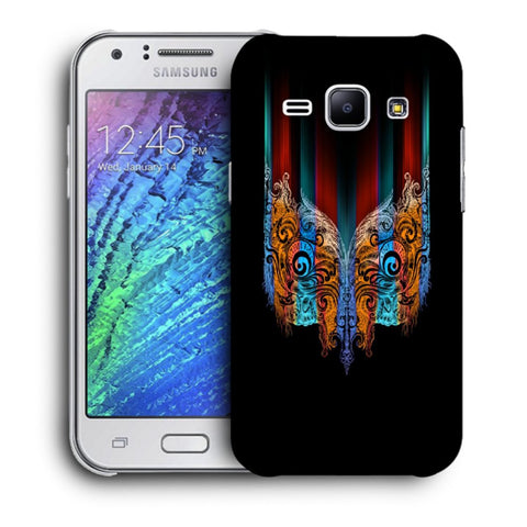 Snoogg Abstract Mask Designer Protective Back Case Cover For Samsung Galaxy J1