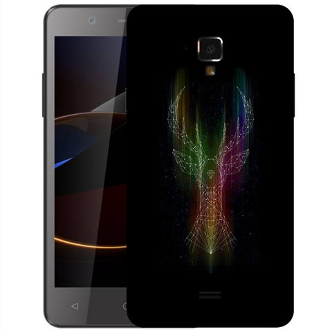 Snoogg Abstract Deer Designer Protective Back Case Cover For Swipe Elite 2 Plus