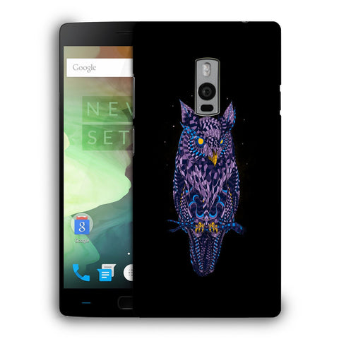 Snoogg Abstract Owl Designer Protective Back Case Cover For OnePlus Two