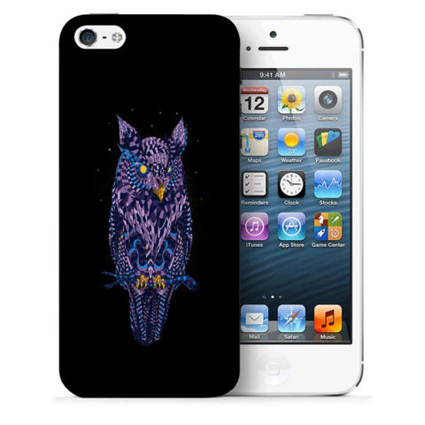 Snoogg Abstract Owl Designer Protective Back Case Cover For Apple Iphone SE