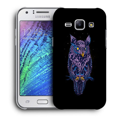 Snoogg Abstract Owl Designer Protective Back Case Cover For Samsung Galaxy J1