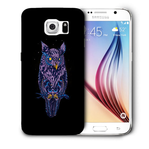 Snoogg Abstract Owl Designer Protective Back Case Cover For Samsung Galaxy S6