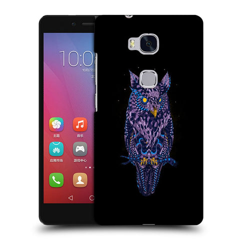 Snoogg Abstract Owl Designer Protective Back Case Cover For Huawei Honor 5X
