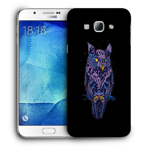 Snoogg Abstract Owl Designer Protective Back Case Cover For Samsung Galaxy A8