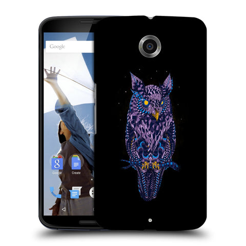 Snoogg Abstract Owl Designer Protective Back Case Cover For Motorola Nexus 6