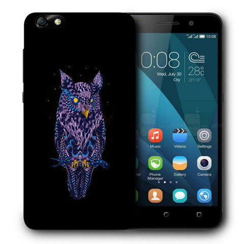 Snoogg Abstract Owl Designer Protective Back Case Cover For Huawei Honor 4X