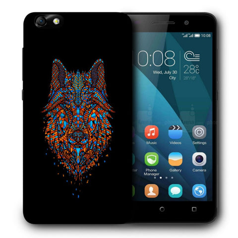 Snoogg Abstract Fox Designer Protective Back Case Cover For Huawei Honor 4X