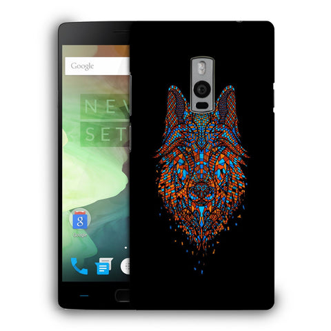 Snoogg Abstract Fox Designer Protective Back Case Cover For OnePlus Two