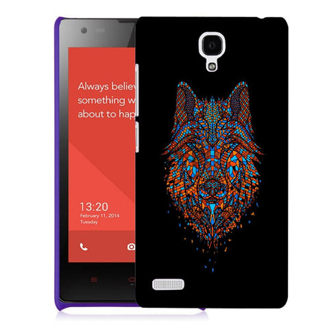 Snoogg Abstract Fox Designer Protective Back Case Cover For Xiaomi Redmi Note 2