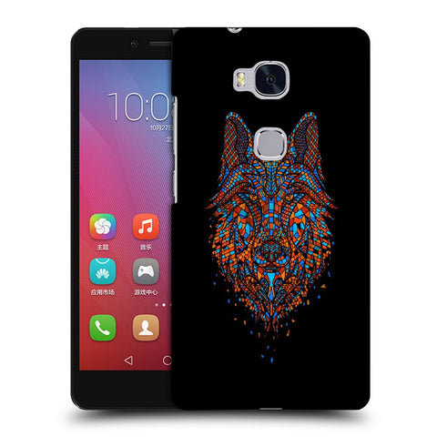 Snoogg Abstract Fox Designer Protective Back Case Cover For Huawei Honor 5X