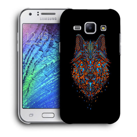 Snoogg Abstract Fox Designer Protective Back Case Cover For Samsung Galaxy J1