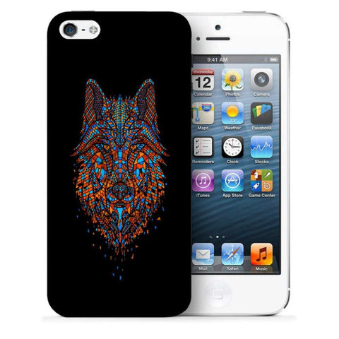 Snoogg Abstract Fox Designer Protective Back Case Cover For Apple Iphone SE
