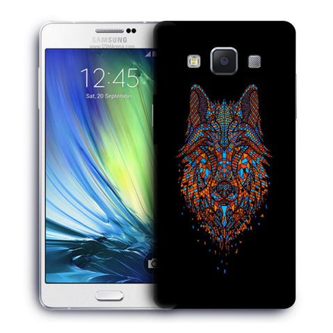 Snoogg Abstract Fox Designer Protective Back Case Cover For Samsung Galaxy A7