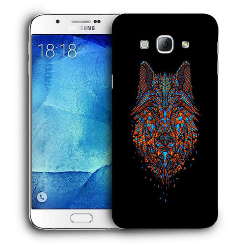 Snoogg Abstract Fox Designer Protective Back Case Cover For Samsung Galaxy A8