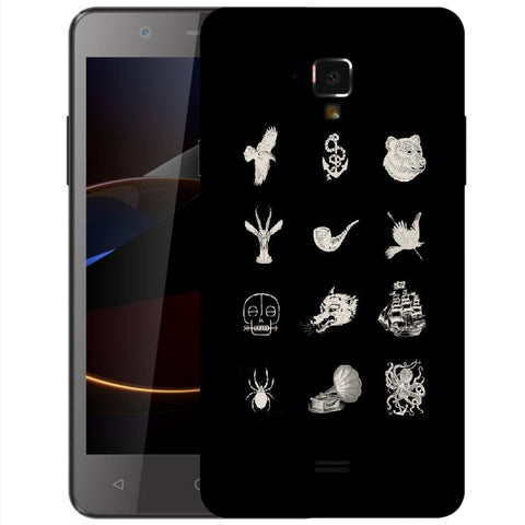 Snoogg Abstract Things Designer Protective Back Case Cover For Swipe Elite 2 Plus