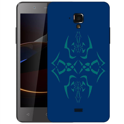 Snoogg Abstract Blue Pattern Designer Protective Back Case Cover For Swipe Elite 2 Plus