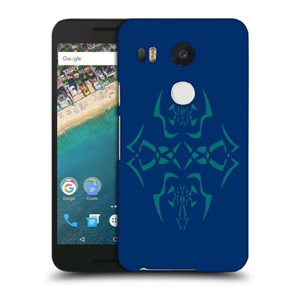 Snoogg Abstract Blue Pattern Designer Protective Back Case Cover For Lg Nexus 5X