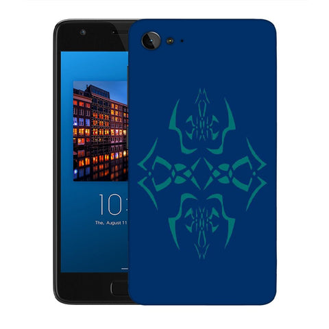 Snoogg Abstract Blue Pattern Designer Protective Back Case Cover For Lenovo Zuk Z2