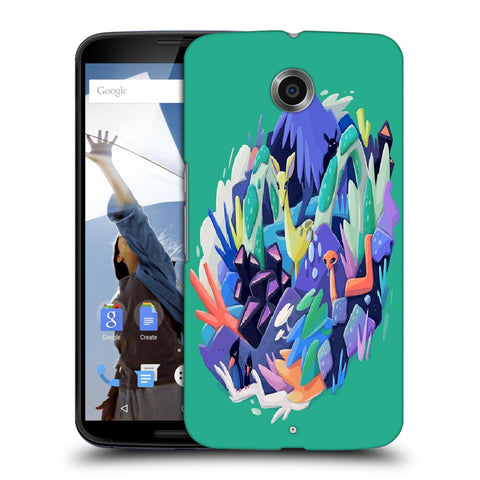 Snoogg Abstract Animal Designer Protective Back Case Cover For Motorola Nexus 6