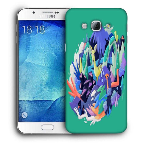 Snoogg Abstract Animal Designer Protective Back Case Cover For Samsung Galaxy A8